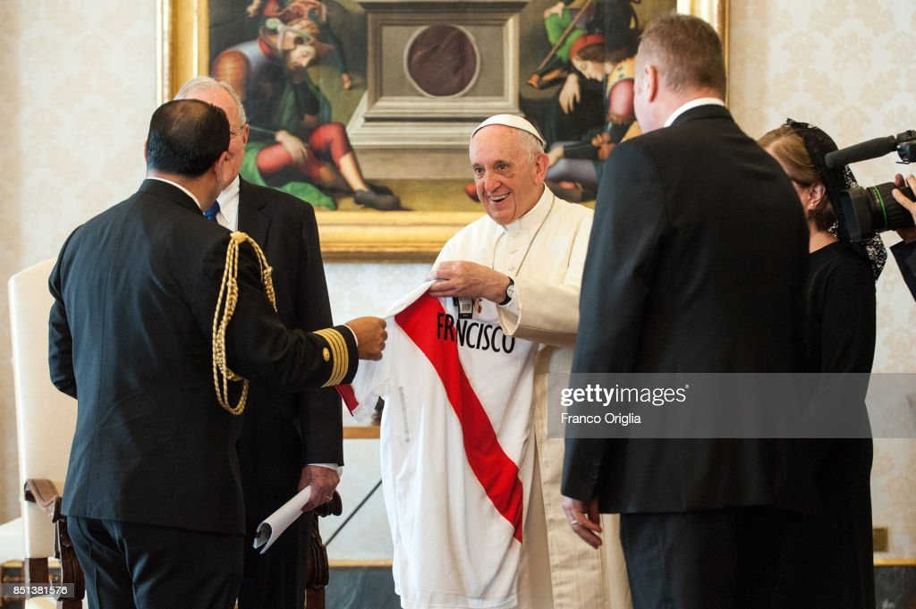 Pope Francis Meets President Of Peru Pedro Pablo Kuczynski