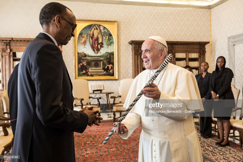 Pope Francis Meets President of Rwanda At The Vatican