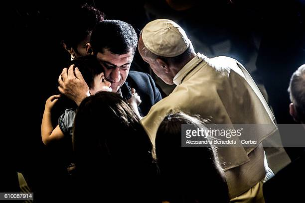 Pope Francis holds a special audience for families of Nice Attack victims on September 24 2016 in Vatican City Vatican On 14 July 2016 a 19 tonne...