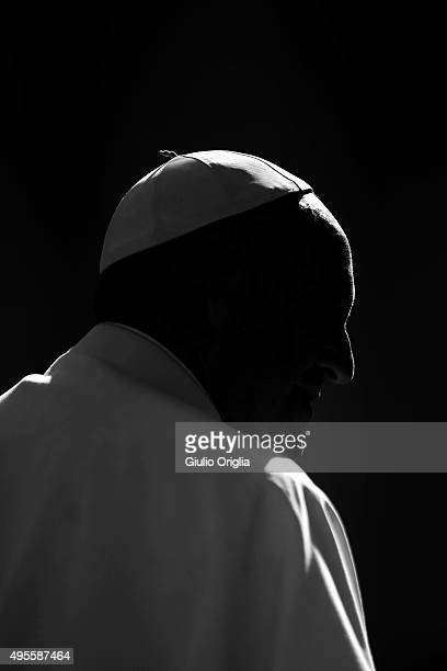 Pope Francis holds his weekly audience in St Peter's Square at The Vatican on November 4 2015 in Vatican City Vatican In his catechisis he continued...