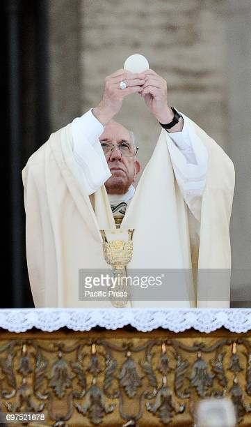 MAGGIORE ROME LAZIO ITALY Pope Francis in the Basilica of St Mary Major celebrated Corpus Christi the traditional celebration of the body and blood...