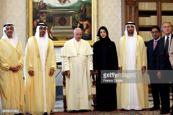 Pope Francis meets Sheikh Mohamed bin Zayed Al Nahyan Crown Prince of Abu Dhabi and Deputy Supreme Commander of the UAE Armed Forces at the Apostolic...
