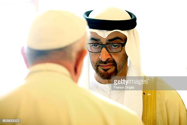 Pope Francis meets Sheikh Mohamed bin Zayed Al Nahyan Crown Prince of Abu Dhabi and Deputy Supreme Commander of the UAE Armed Forces at tghe...