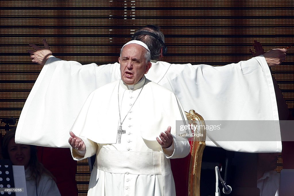 <a gi-track='captionPersonalityLinkClicked' href=/galleries/search?phrase=Pope+Francis&family=editorial&specificpeople=2499404 ng-click='$event.stopPropagation()'>Pope Francis</a> meets the Movement of the Holy Spirit Renewal at the Olympic Stadium on June 1, 2014 in Rome, Italy. It is the first ever papal visit to a stadium in the Italian capital. This celebration of faith, organised by the Renewal in the Spirit, has been attended by representatives of more than fifty countries and has involved moments of prayer, music and an address by the Holy Father.