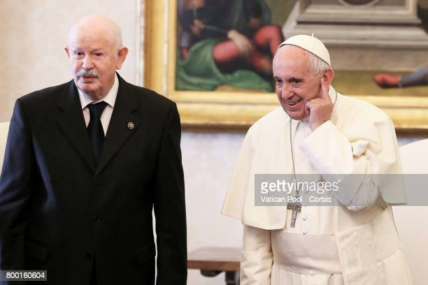 Pope Francis meets with the Lieutenant of Grand Master of The Sovereign Military Order Of Malta Fra Giacomo Dalla Torre del Tempio di Sanguinetto...