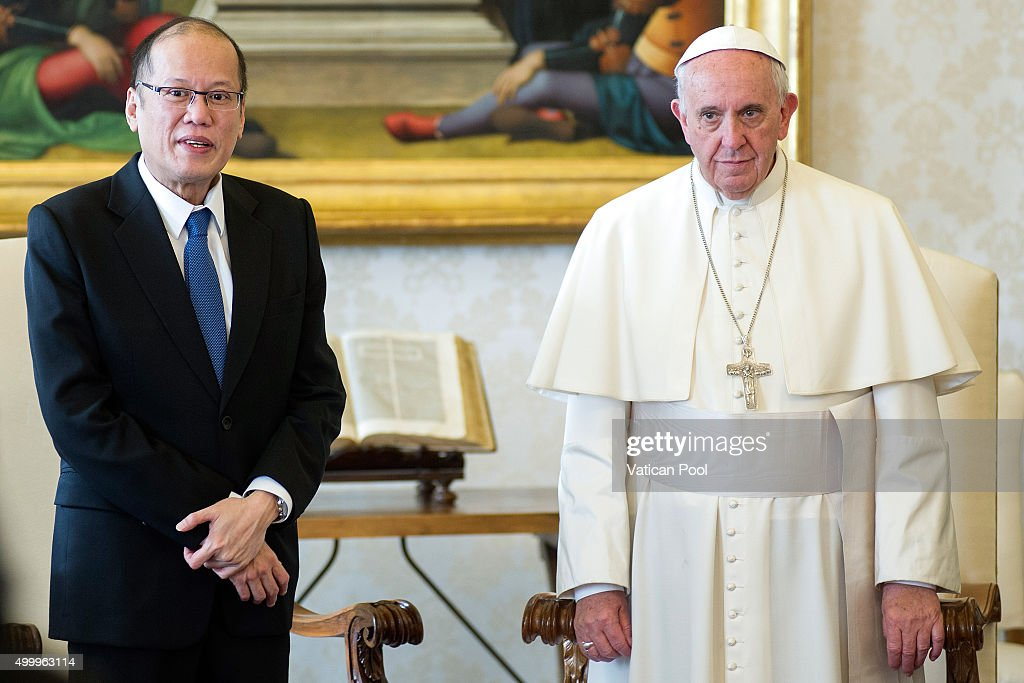 Pope Francis Meets President Of Philippines