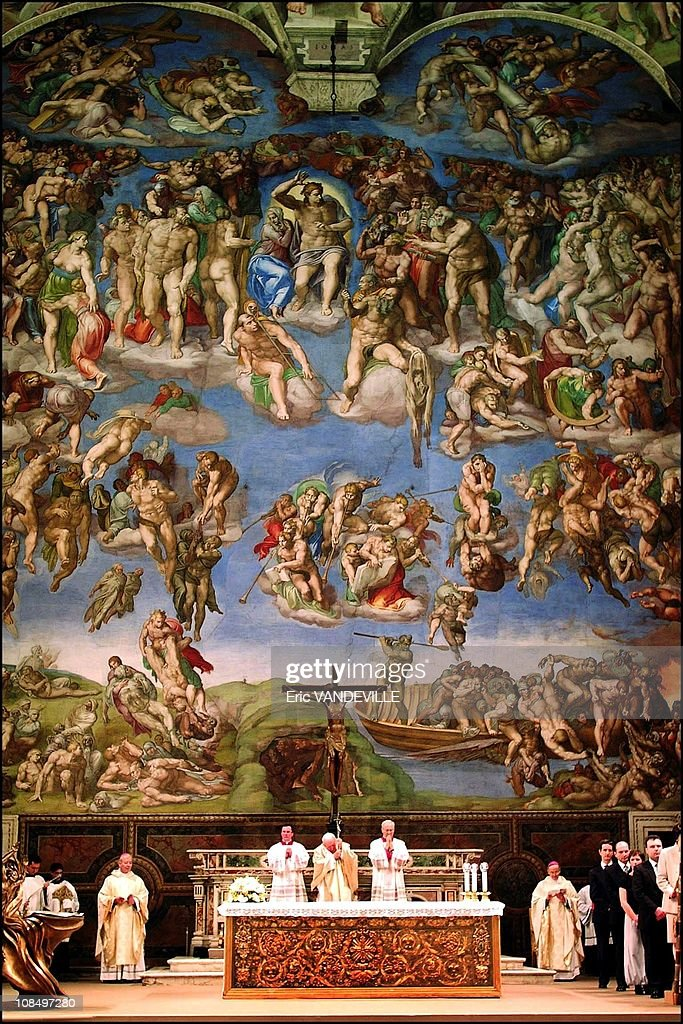 500 Years Since the Ceiling Of The Sistine Chapel Painted By Michaelangelo Was Shown To The Public