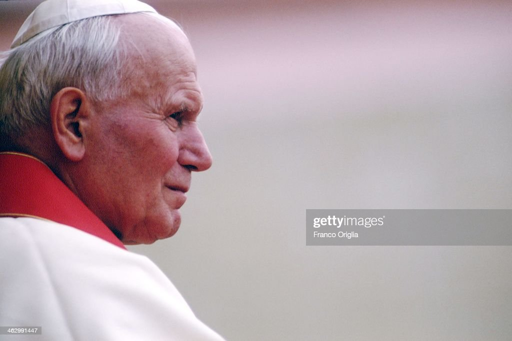 Pope John Paul II during his official visit to Lecce on September 18, 1994 in Lecce, Italy.