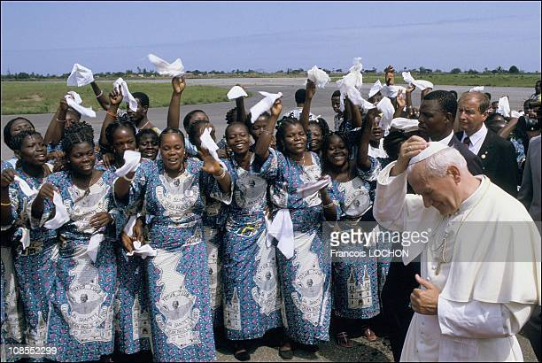 Pope John Paul II in Togo on August 09th 1985