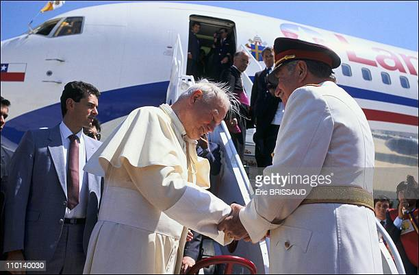 Pope JohnPaul II with Augusto Pinochet in Santiago Chile in April 1987