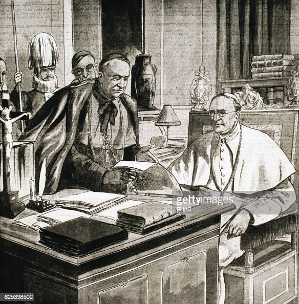 Pope Pius XI Reigned form 19221939 Engraving