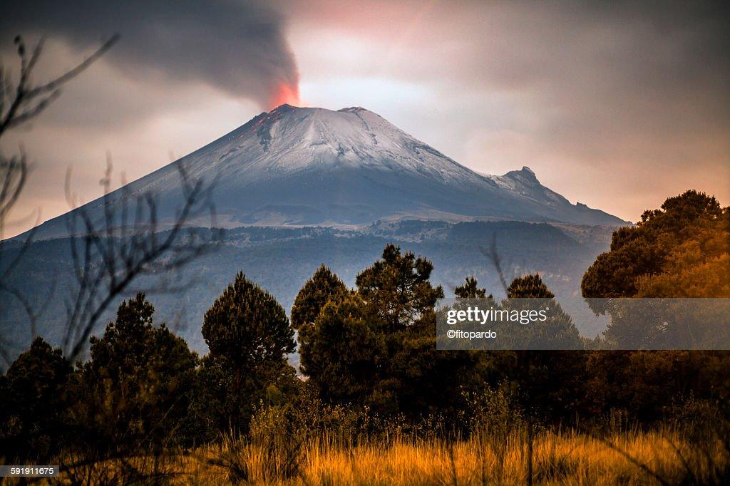 Popocatepetl Volcano from Puebla state