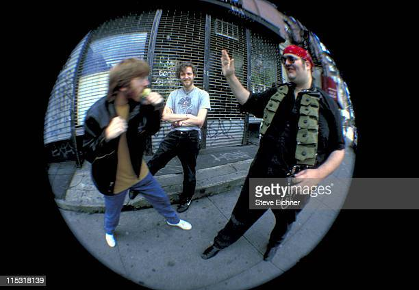 Popper Barron Tray during Blues Traveler Spin Doctors Phish Photo Shoot at East Village in New York City New York United States