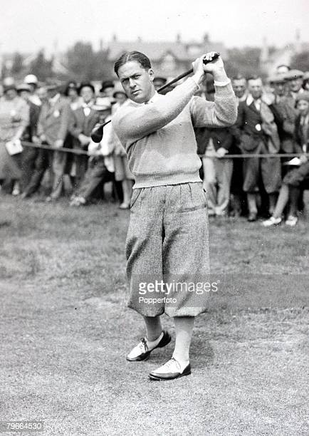 Popperfoto The Book Volume 1 Page 87 Picture 2 20th June 1930 Golf A picture of Bobby Jones of the USA winning the Open Championship at Hoylake