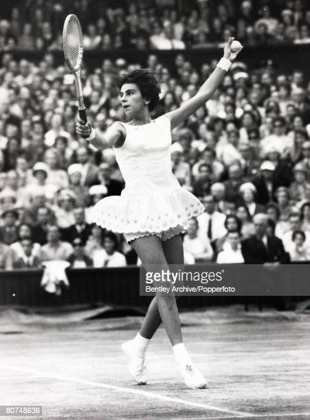 Popperfoto The Book Volume 1 Page 90 Picture 1 Tennis All England Lawn Tennis Championships Women's Singles Final A picture of Maria Bueno of Brazil...