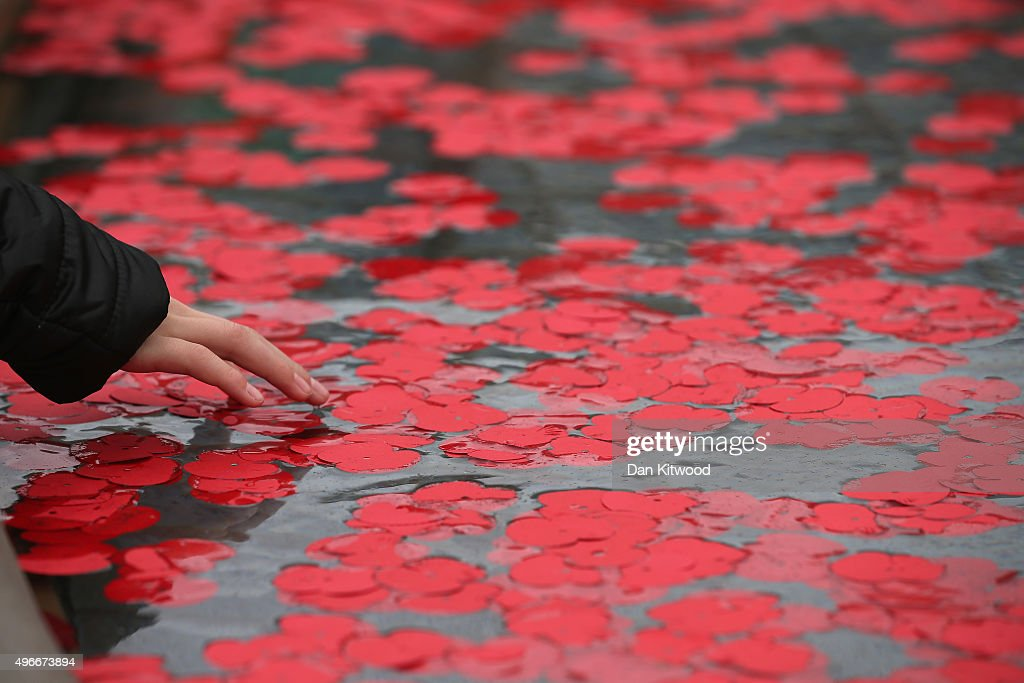 Poppies float in the fountains in Trafalgar Square on November 11, 2015 in London, England. People across the UK and the world gathered today to pay tribute to service personnel who have died during conflicts, as part of the annual Remembrance ceremonies marking Armistice Day on the 11th hour of the 11th day of the 11th month.