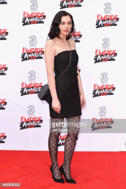 Poppy CorbyTuech attends the THREE Empire awards at The Roundhouse on March 19 2017 in London England
