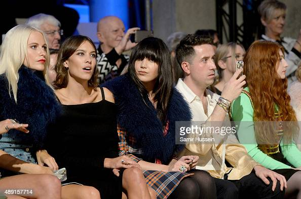 Poppy Delevingne Alexa Chung Daisy Lowe Nick Grimshaw and Nicola Roberts attend the Henry Holland show during London Fashion Week Spring/Summer...