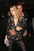 Poppy Delevingne and guest attend the amfAR Milano 2014 After Party as part of Milan Fashion Week Womenswear Spring/Summer 2015 on September 20 2014...
