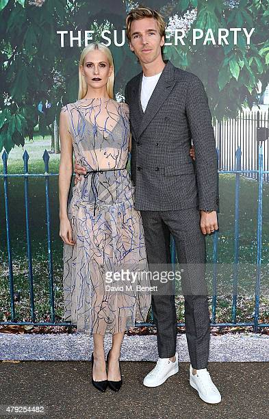 Poppy Delevingne and James Cook arrive at The Serpentine Gallery summer party at The Serpentine Gallery on July 2 2015 in London England