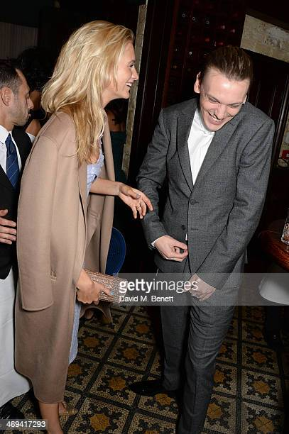 Poppy Delevingne and Jamie Campbell Bower attend Harvey Weinstein's preBAFTA dinner in partnership with Burberry and Grey Goose at Little House...