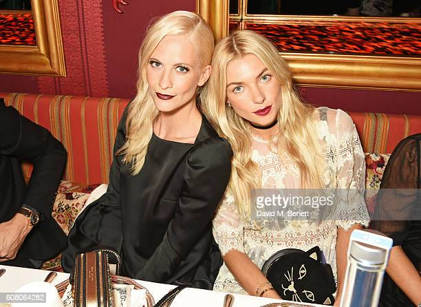 Poppy Delevingne and Jessica Hart attend LOVE Magazine and Marc Jacobs LFW Party to celebrate LOVE 165 collector's issue of LOVE and Berlin 1989 at...