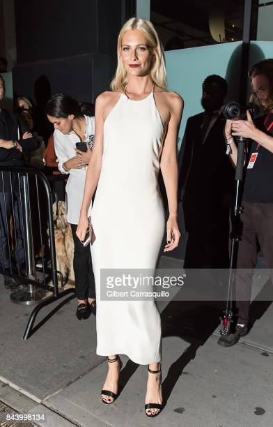 Poppy Delevingne arrives at Calvin Klein Collection fashion show during New York Fashion Week on September 7 2017 in New York City