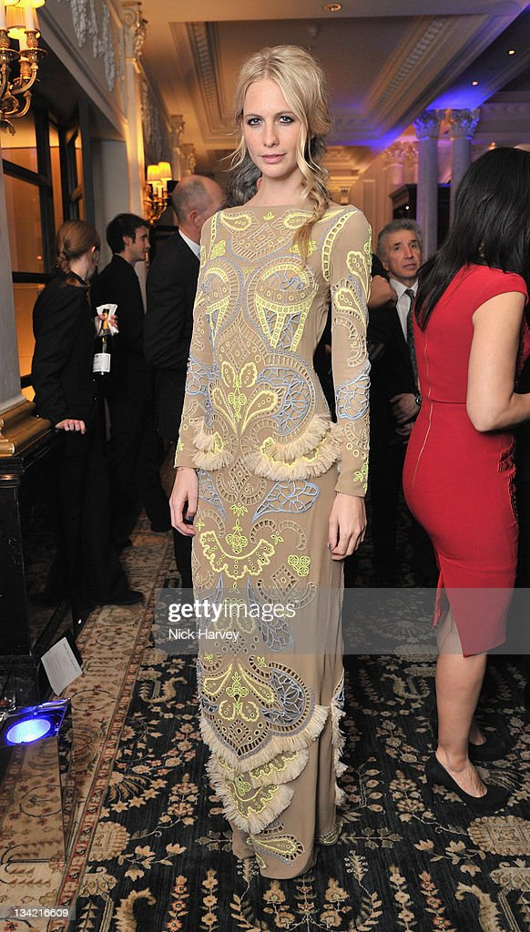 Poppy Delevingne arrives at the British Fashion Awards 2011 at The Savoy Hotel on November 28, 2011 in London, England.