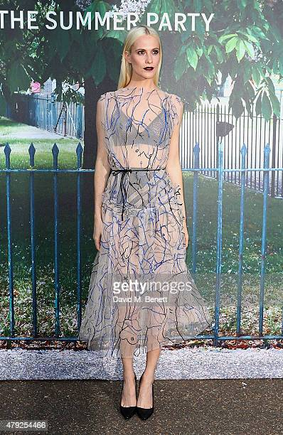 Poppy Delevingne arrives at The Serpentine Gallery summer party at The Serpentine Gallery on July 2 2015 in London England