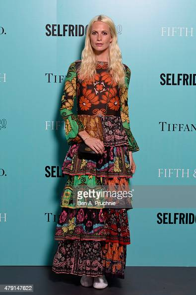 Poppy Delevingne arrives at the Tiffany Co immersive exhibition 'Fifth 57th' at The Old Selfridges Hotel on July 1 2015 in London England
