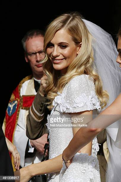 Poppy Delevingne arriving at the wedding of Poppy Delevingne and James Cook on May 16 2014 in London England