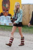Poppy Delevingne at day 2 of the 2013 Glastonbury Festival at Worthy Farm on June 28 2013 in Glastonbury England