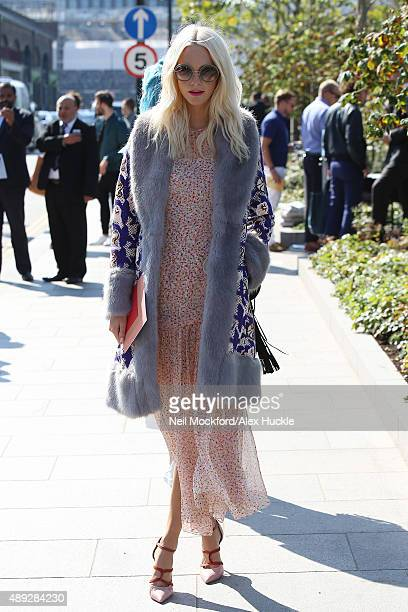 Poppy Delevingne at the Jonathan Saunders fashion show on September 20 2015 in London England