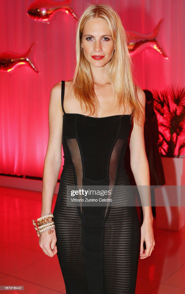 Poppy Delevingne attend Calzedonia Summer Show Forever Together on April 16, 2013 in Rimini, Italy.