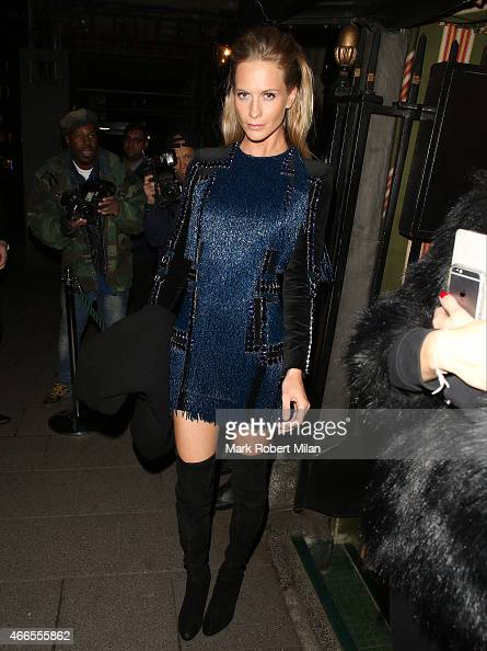 Poppy Delevingne attending a party Annabel's club to mark the opening of Balmain's first London store on March 16 2015 in London England
