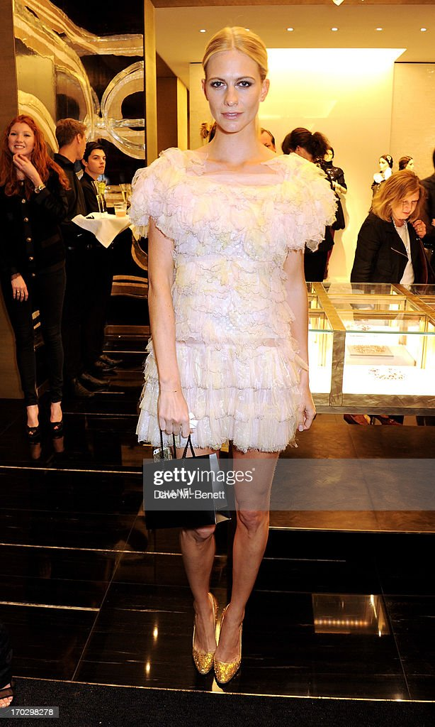 Poppy Delevingne attends a private view of the new CHANEL flagship boutique on New Bond Street on June 10, 2013 in London, England.