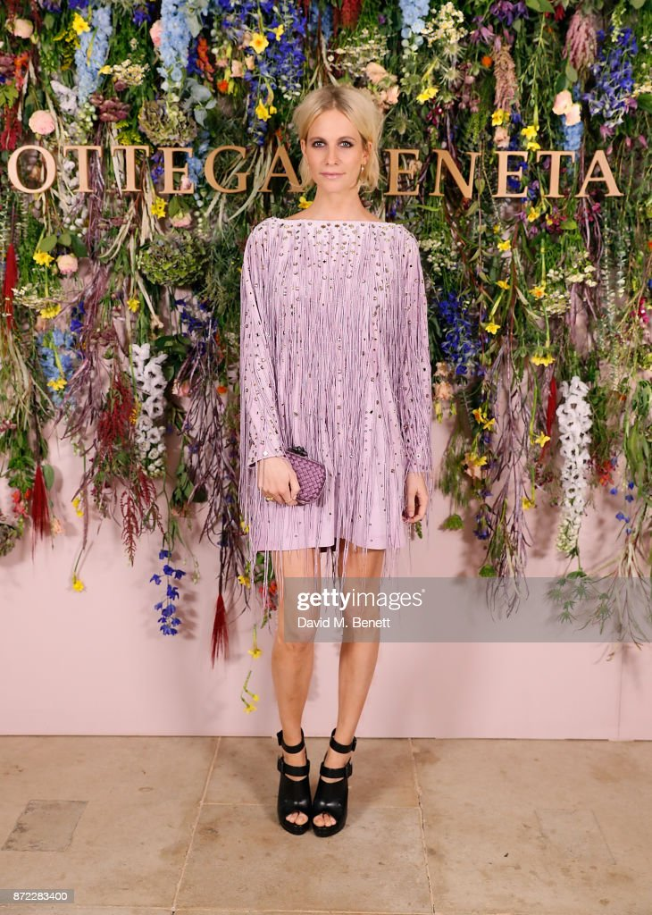 Poppy Delevingne attends Bottega Veneta's 'The Hand of the Artisan Cocktail Dinner' at Chiswick House And Gardens on November 9, 2017 in London, England.