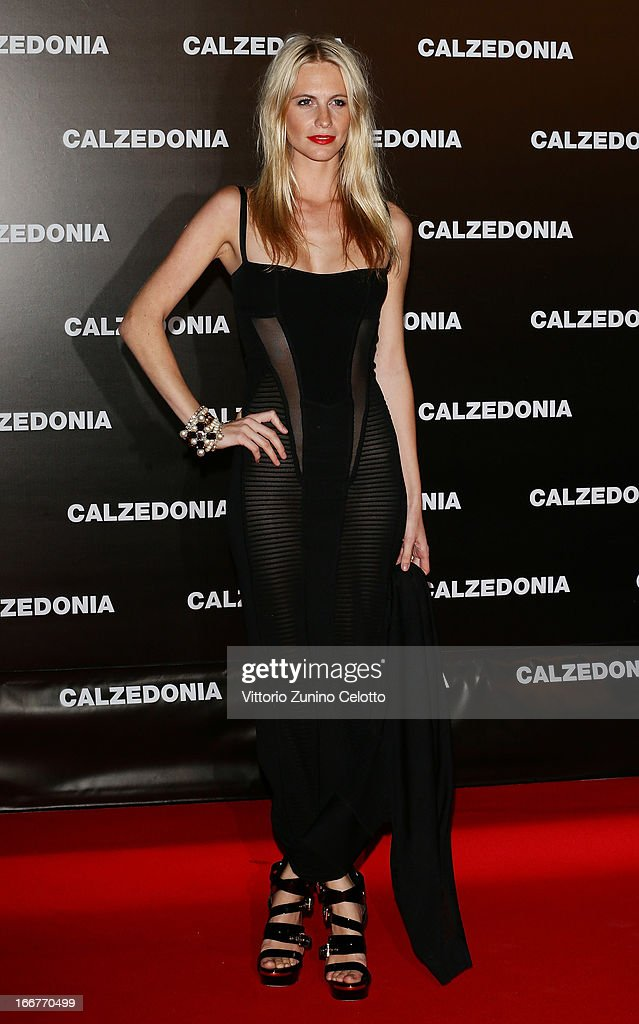 Poppy Delevingne attends Calzedonia Summer Show Forever Together on April 16, 2013 in Rimini, Italy.