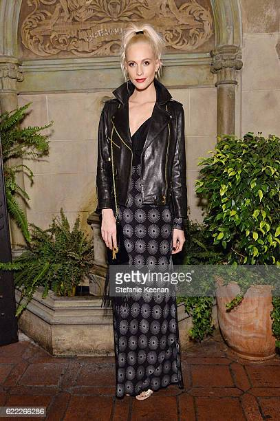 Poppy Delevingne attends Lisa Love Hosts Dinner For Jonathan Saunders New Chief Creative Officer Of Diane Von Furstenberg at Chateau Marmont on...