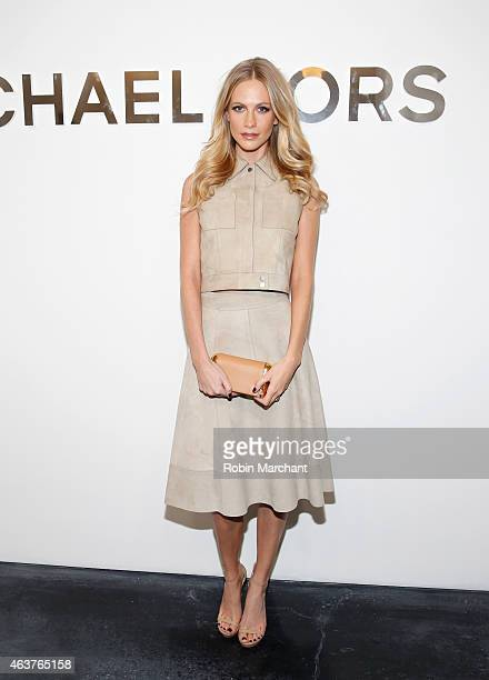 Poppy Delevingne attends Michael Kors Fashion Show at Spring Studios on February 18 2015 in New York City