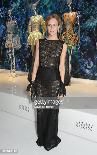 Poppy Delevingne attends the Alexander McQueen Savage Beauty Fashion Gala at the VA presented by American Express and Kering on March 12 2015 in...