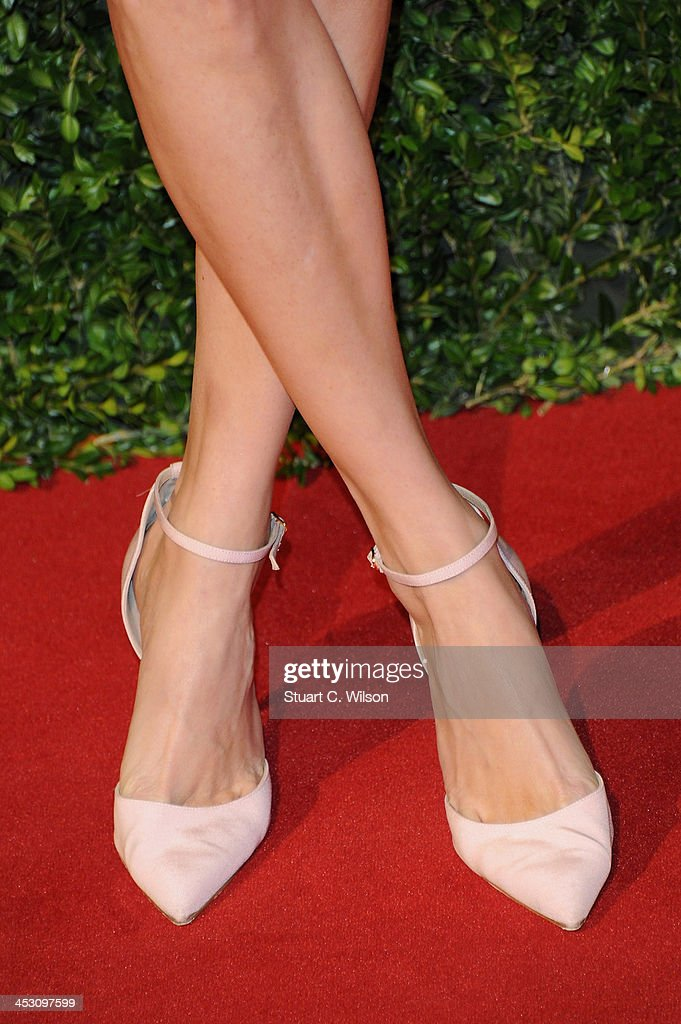 Poppy Delevingne (shoe detail) attends the British Fashion Awards 2013 at London Coliseum on December 2, 2013 in London, England.