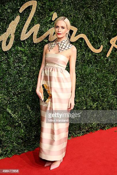 Poppy Delevingne attends the British Fashion Awards 2015 at London Coliseum on November 23 2015 in London England