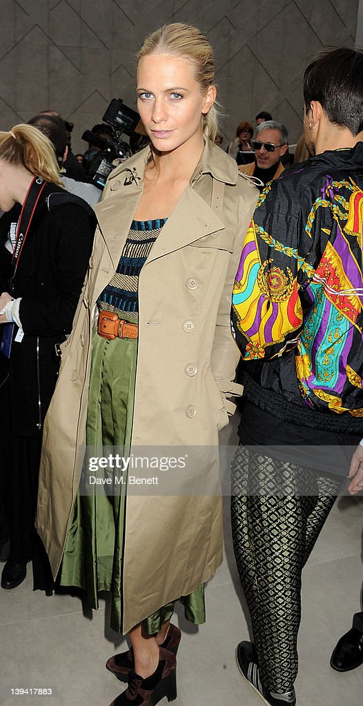 Poppy Delevingne attends the Burberry Autumn Winter 2012 Womenswear Front Row during London Fashion Week at Kensington Gardens on February 20, 2012 in London, England.
