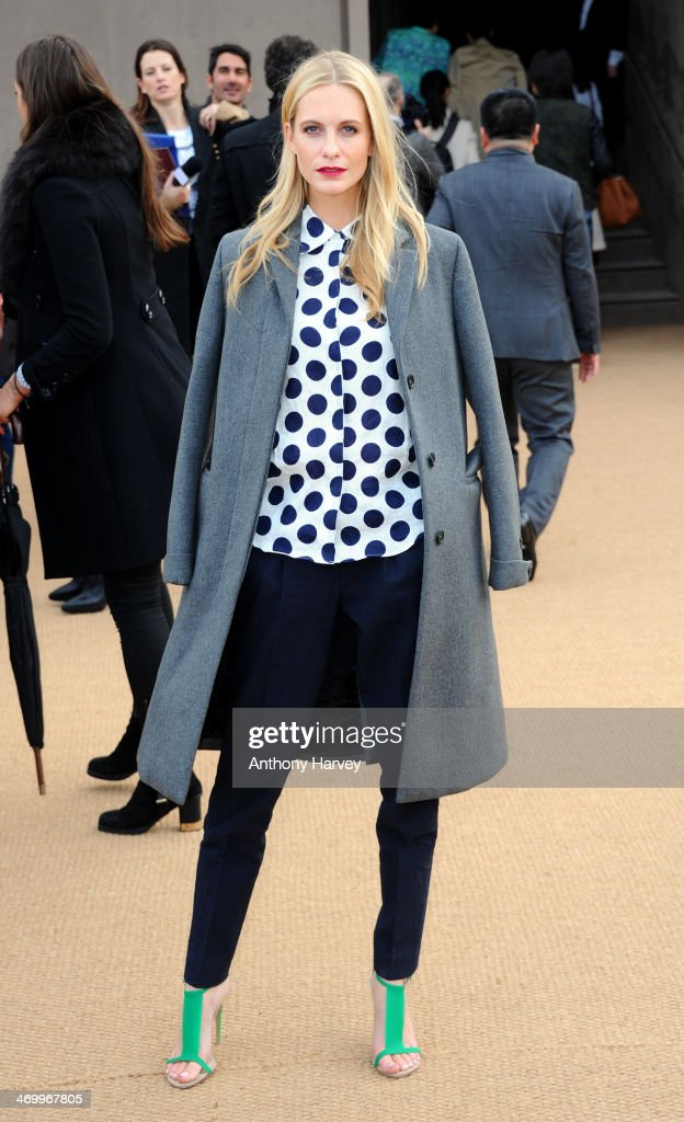 Poppy Delevingne attends the Burberry Prorsum show at London Fashion Week AW14 at Kensington Gardens on February 17, 2014 in London, England.