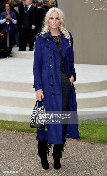 Poppy Delevingne attends the Burberry Prorsum show during London Fashion Week Spring/Summer 2016/17 on September 21 2015 in London England