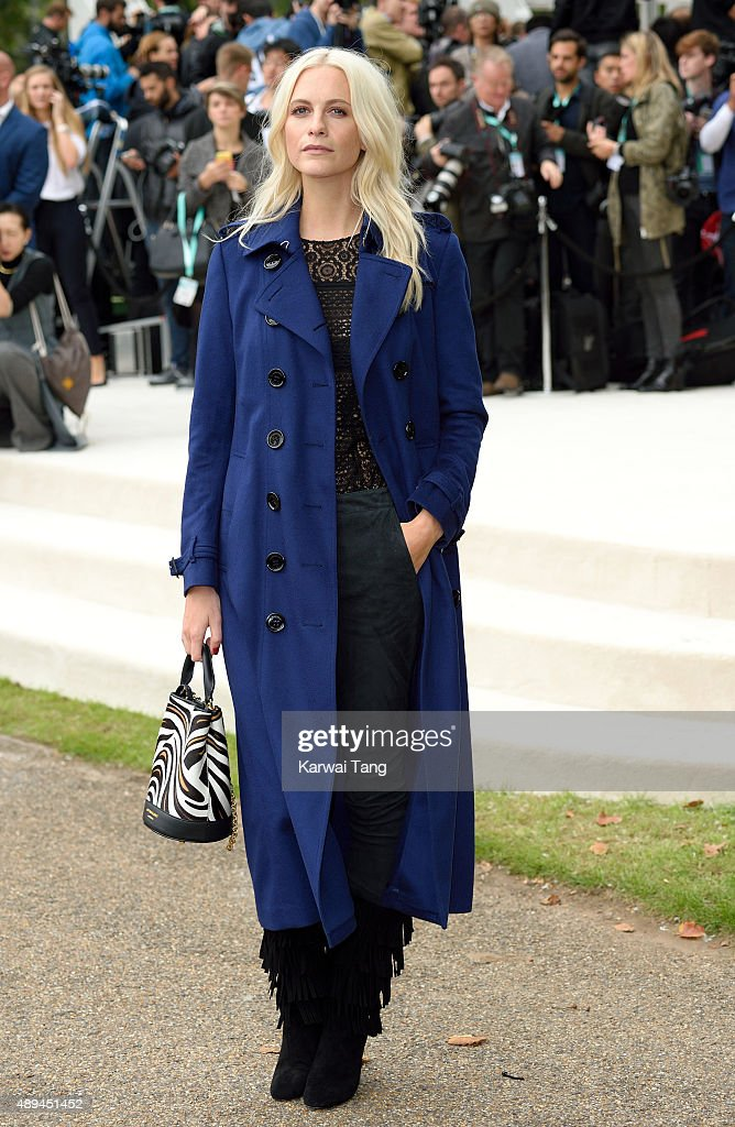 Poppy Delevingne attends the Burberry Prorsum show during London Fashion Week Spring/Summer 2016/17 at Kensington Gardens on September 21, 2015 in London, England.