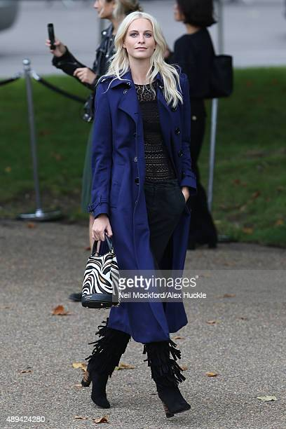 Poppy Delevingne attends the Burberry Prorsum ss16 catwalk show on September 21 2015 in London England