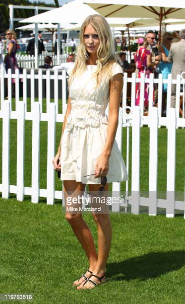 Poppy Delevingne attends the Cartier International Polo Day 2011 at Guards Polo Club on July 24 2011 in Egham England