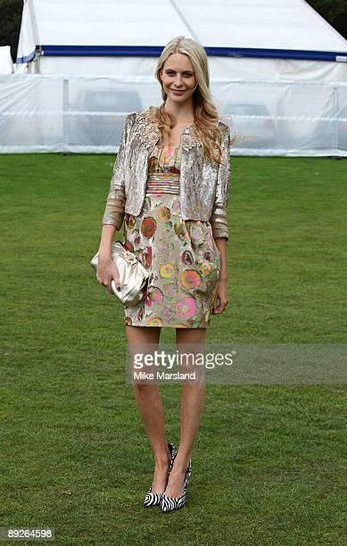 Poppy Delevingne attends the Cartier International Polo Day at Guards Polo Club on July 26 2009 in Egham England